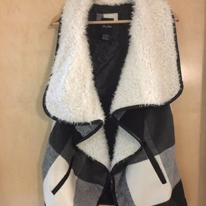 Jackets & Blazers - Black and white vest